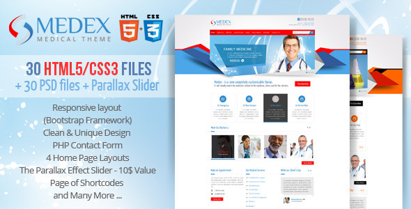 ThemeForest Medex Medical Doctor and Health care Responsive 3934633