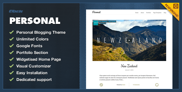 ThemeForest Personal WordPress Blogging Theme 3934814