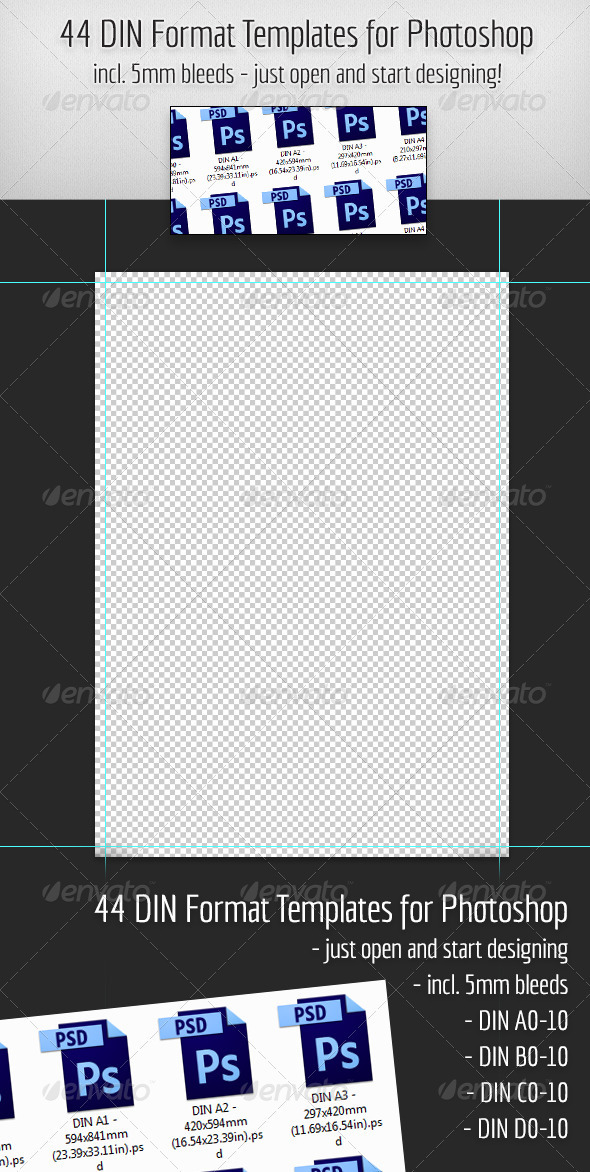GraphicRiver 44 DIN Format Templates for Photoshop 3934970