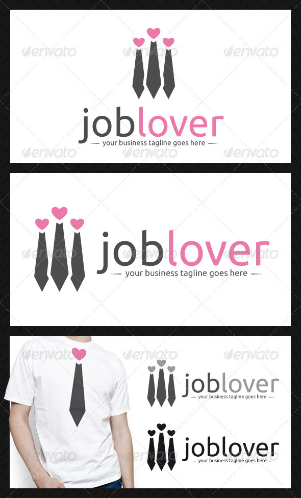 GraphicRiver Job Lover Logo Template 3936140