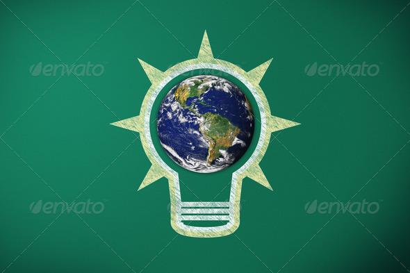 PhotoDune light bulb and earth 3938240