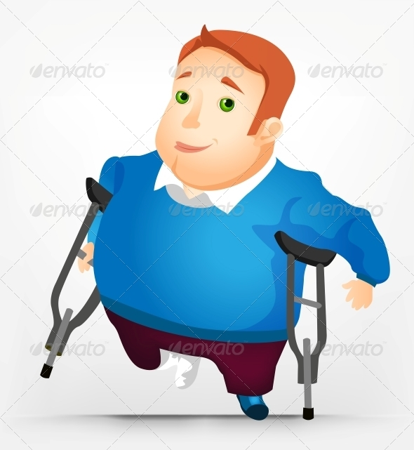GraphicRiver Cheerful Chubby Man 3936307