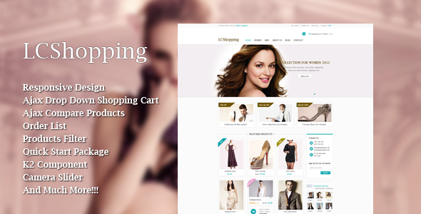 LCShopping - Responsive VirtueMart Template - theme preview