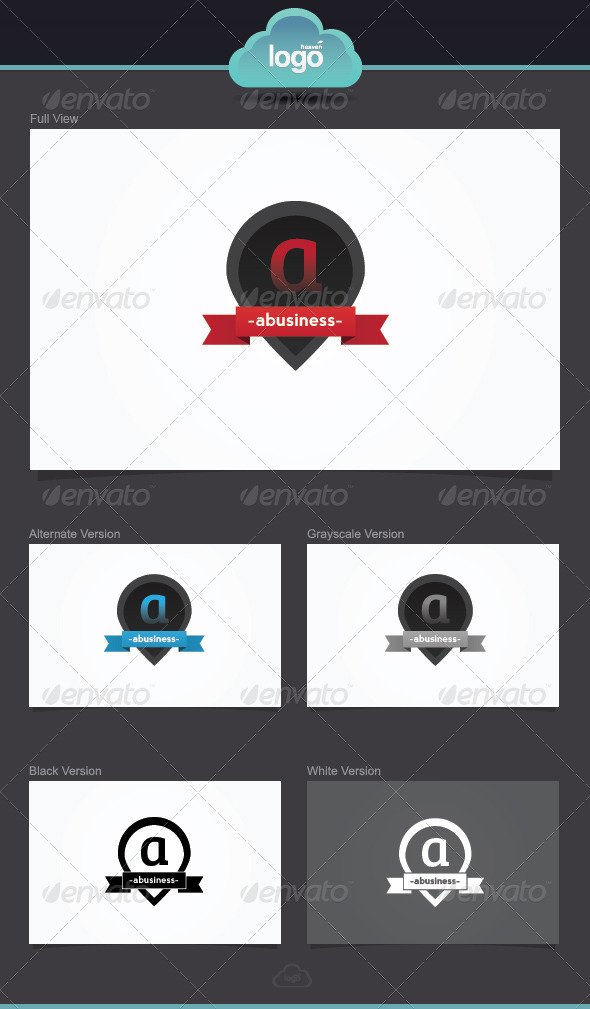 GraphicRiver Letter A Logo Template 3936963