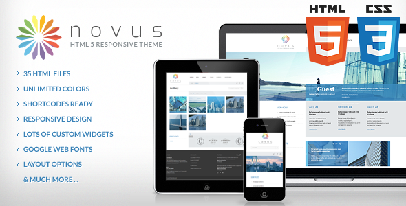 ThemeForest Novus Multipurpose Corporate HTML Theme 3929748