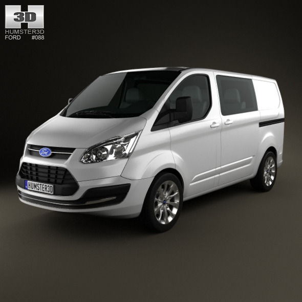 Ford Transit Custom Crew Van SWB 2013 - 3DOcean Item for Sale