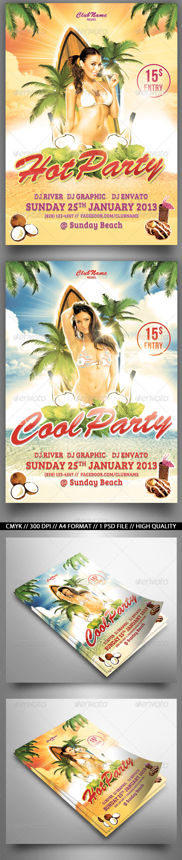 GraphicRiver Cool Party Flyer 3846106
