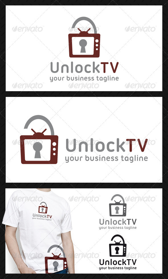 GraphicRiver Unlock Tv Logo Template 3938419