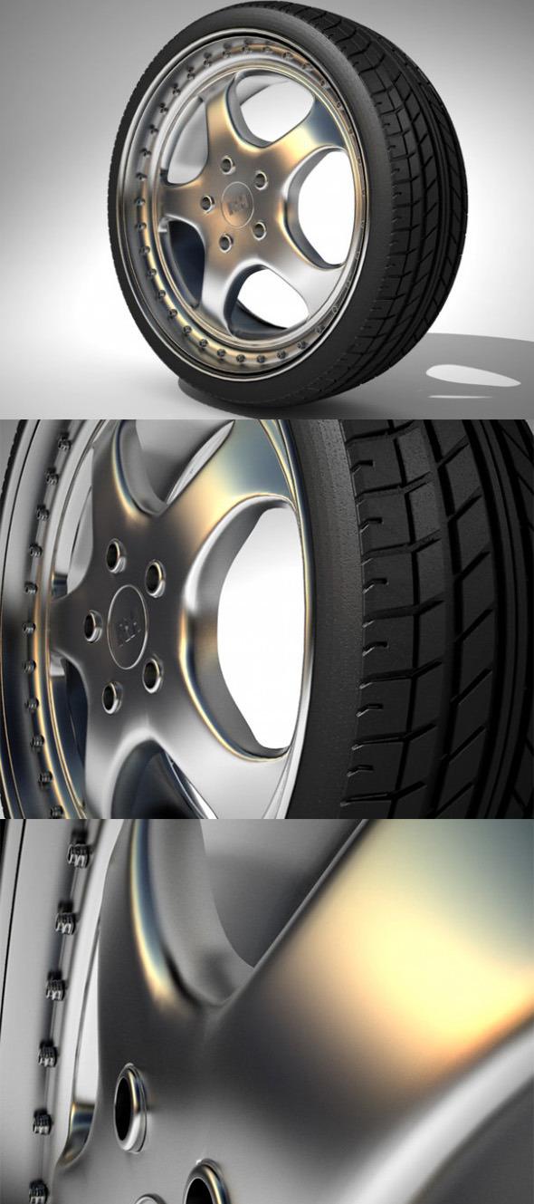 3DOcean RH Wheel Porsche 3938573