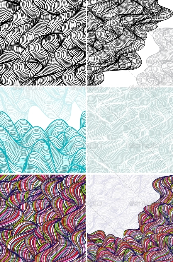 GraphicRiver Abstract Wave Patterns and Backgrounds 3938576