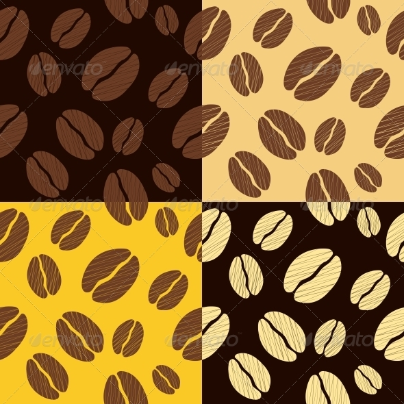GraphicRiver Coffee Beans Seamless Pattern Background 3938601