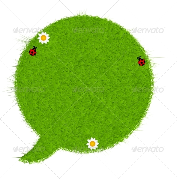 GraphicRiver Fresh Green Grass Speech Bubble 3938635