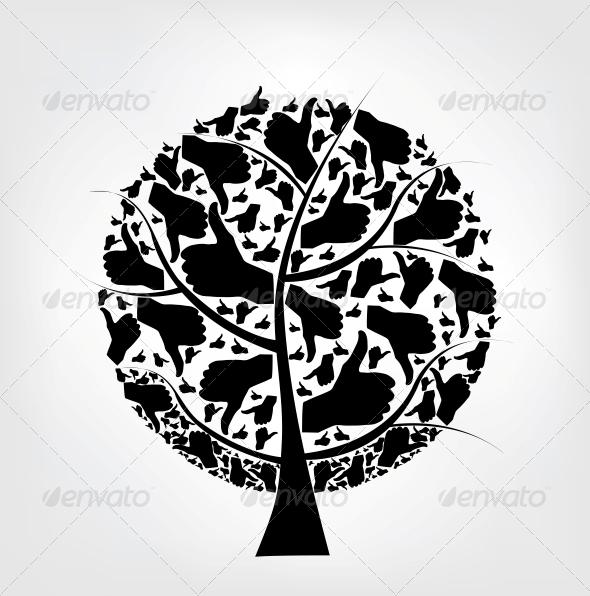 GraphicRiver Hand Tree 3938638