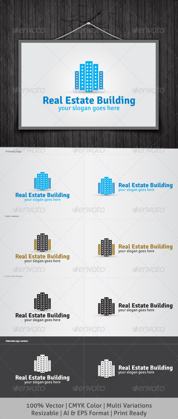 GraphicRiver Real Estate Building Logo 3938981