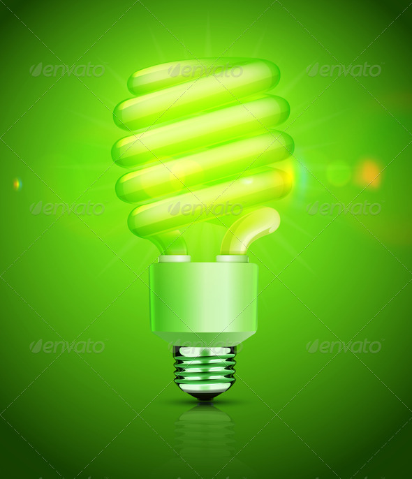 GraphicRiver Energy Saving Fluorescent Lightbulb 3938983