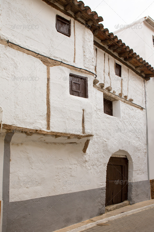 Cuenca Canete in Spain Castilla la Mancha white house - Stock Photo - Images