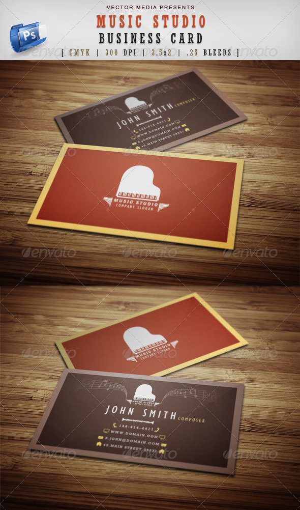 Music Studio - Business Card - Industry Specific Business Cards