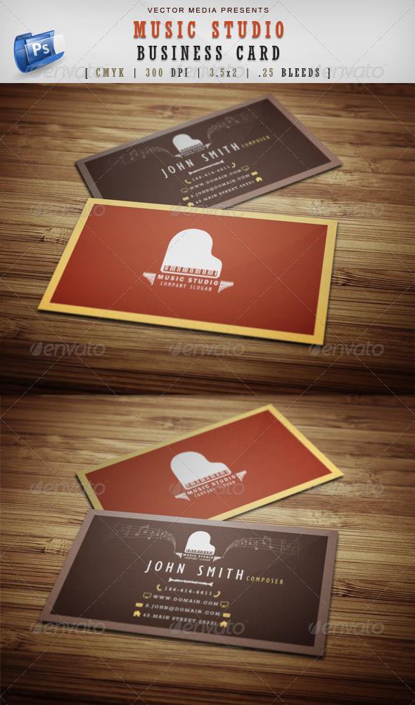 GraphicRiver Music Studio Business Card 3939545