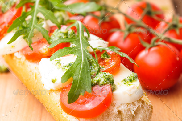 Sandwich with mozzarella - Stock Photo - Images