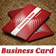 Simply Red Business Card V1 - GraphicRiver Item for Sale