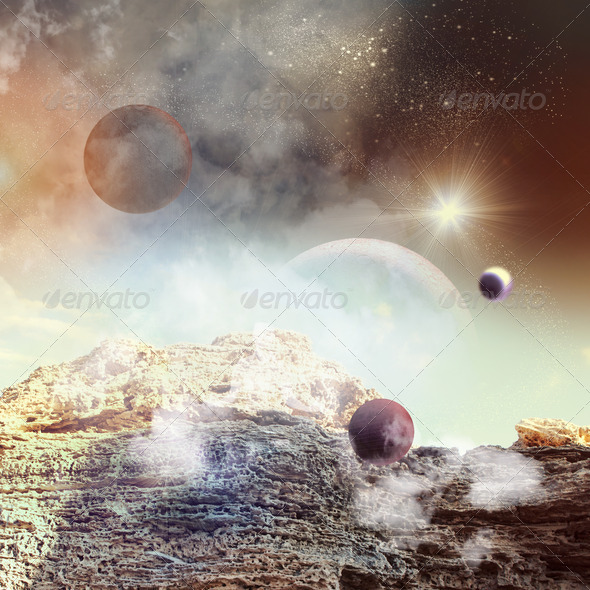 Image of planets in space - Stock Photo - Images