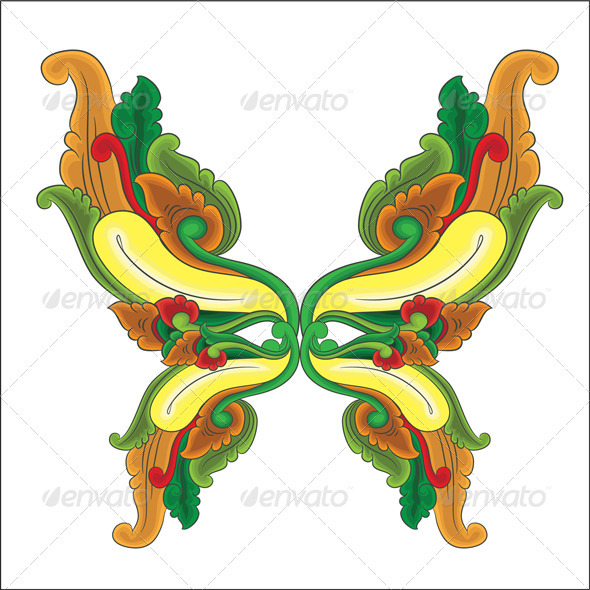 GraphicRiver Butterfly Ornament 3940086