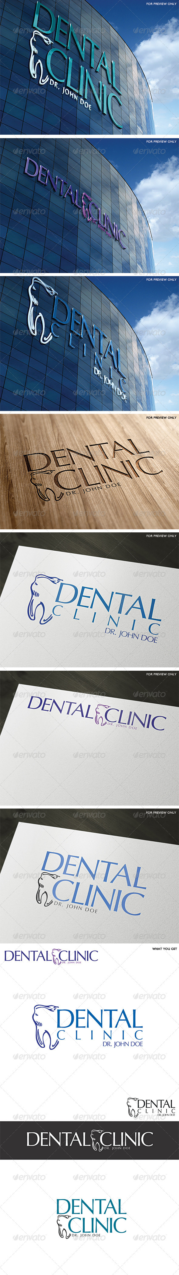 Dental Clinic Logo Template - Vector Abstract