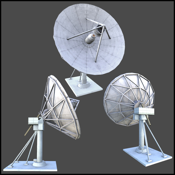 Uplink Satellite Dish - 3DOcean Item for Sale