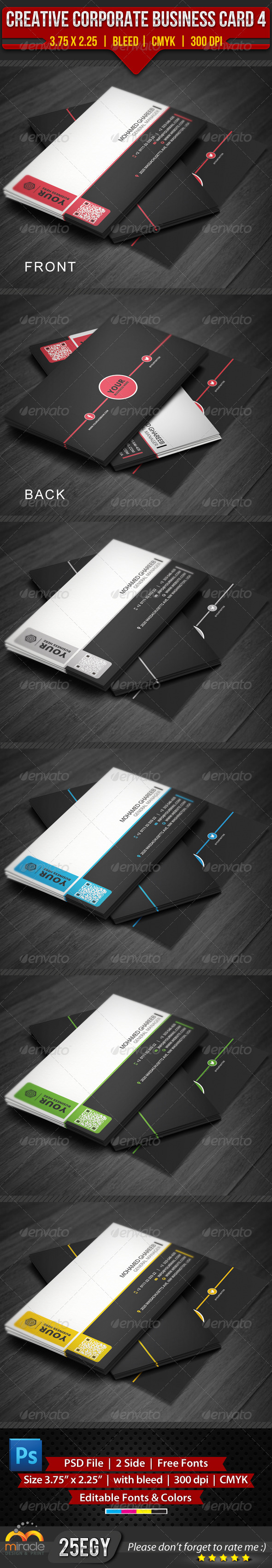 GraphicRiver Creative Corporate Business Card 4 3940449
