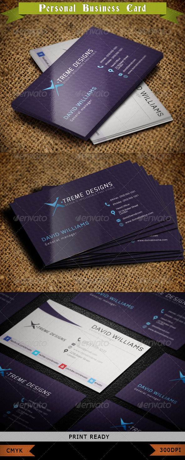 GraphicRiver Personal Business Card 3862688