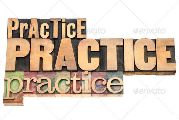 practice - motivation concept - Stock Photo - Images