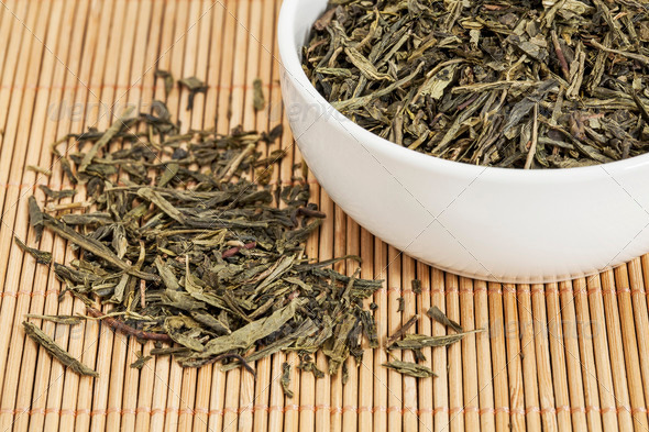 Sencha green tea - Stock Photo - Images