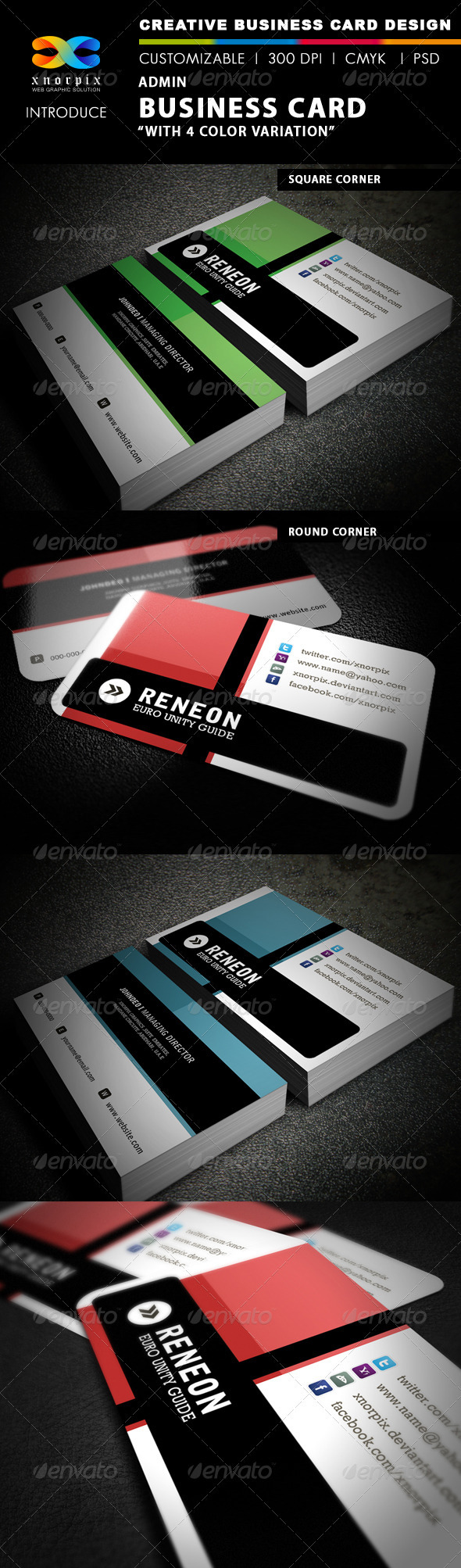 Admin Business Card - Corporate Business Cards