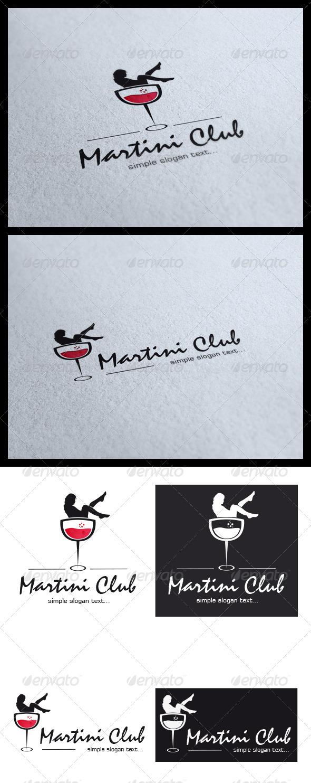 GraphicRiver Martini Club Logo 3791149