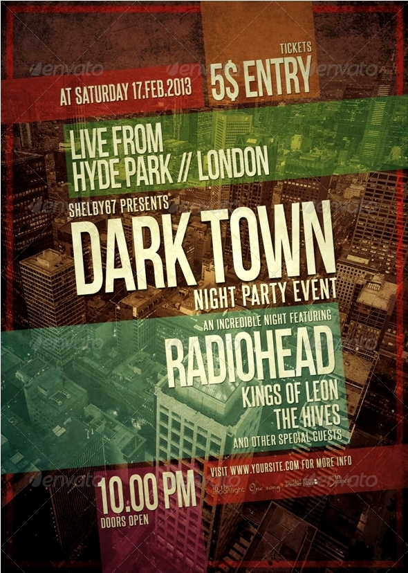 Music Event Flyer / Poster Template by Shelby67   GraphicRiver