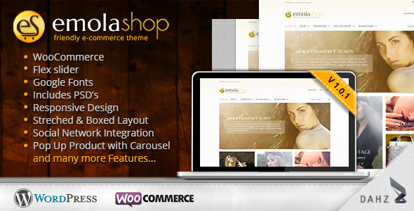 ThemeForest EmolaShop A Friendly Wordpress eCommerce Theme 3892292