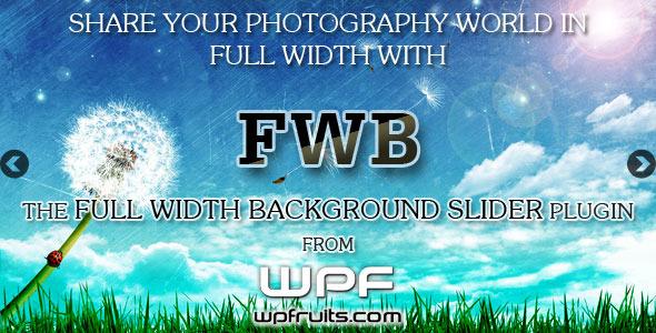 CodeCanyon Full Width Background Image Slider 3928094