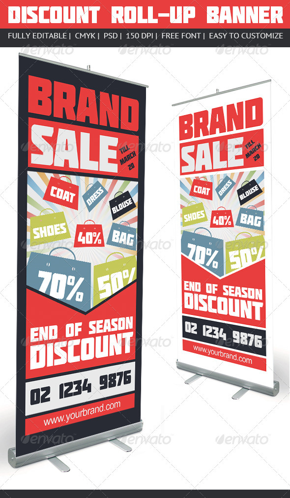 GraphicRiver Discount Roll-Up Banner 3860800