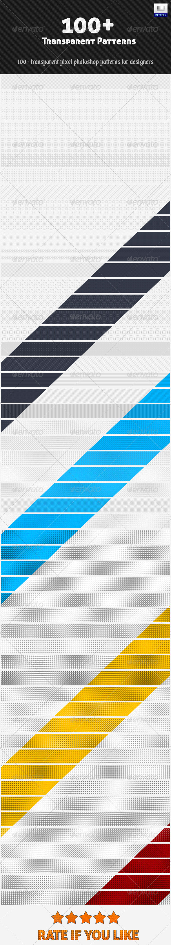 GraphicRiver Transparent Patterns 3943685