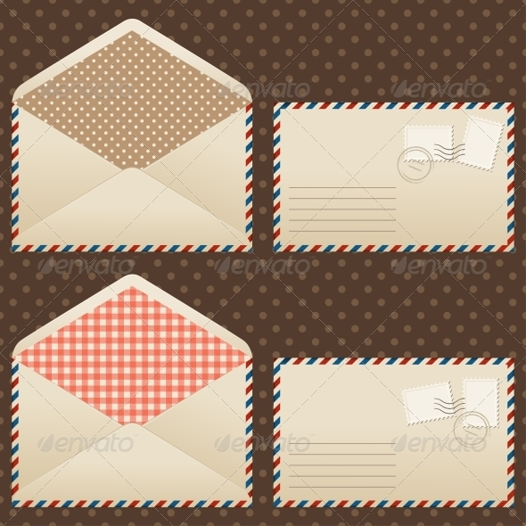 GraphicRiver Collection of Old Vintage Envelopes 3943701
