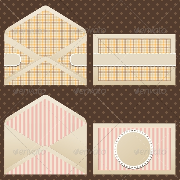 GraphicRiver Collection of Old Vintage Envelopes 3943705