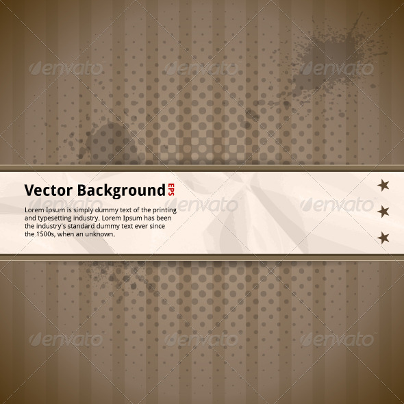 GraphicRiver Retro Background with Crumpled Paper 3819498