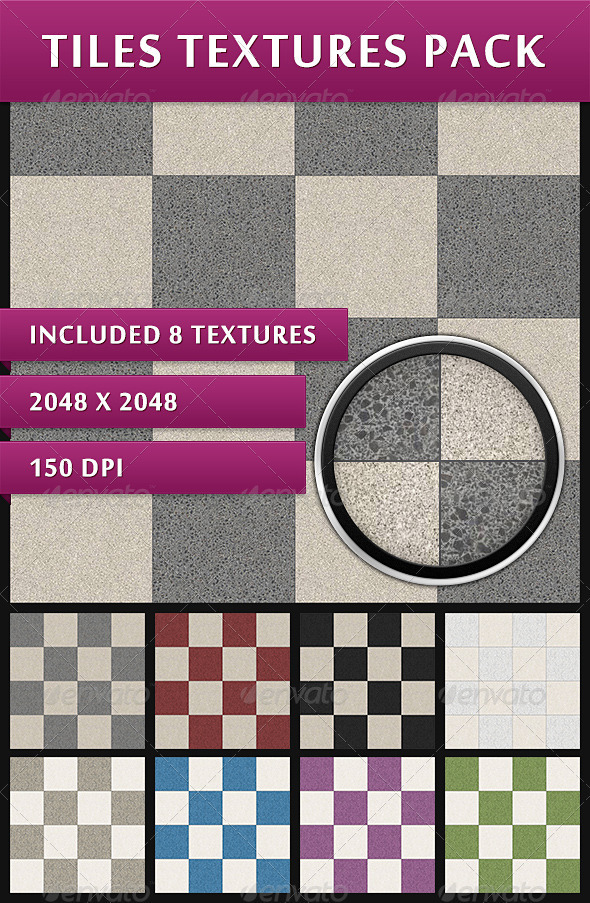 GraphicRiver Tiles Textures Pack 3944286