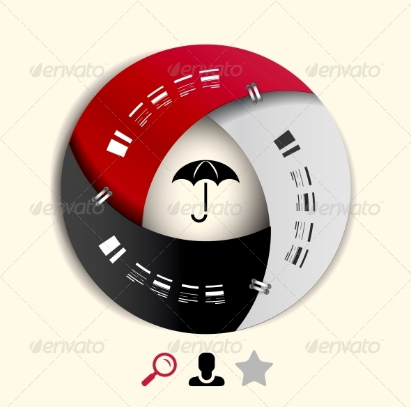 GraphicRiver Modern Round Infographic Design Template 3944308