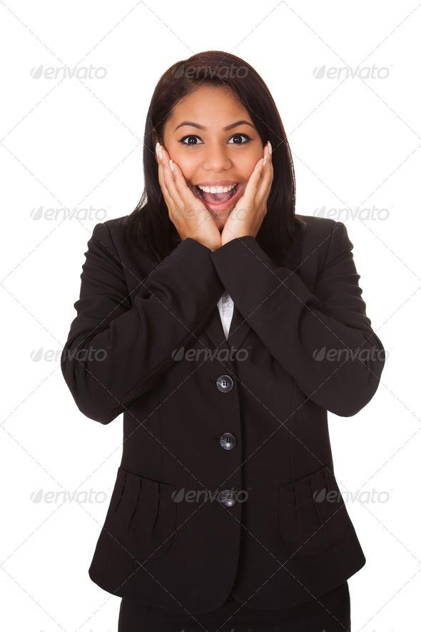 PhotoDune Surprised Businesswoman 3944657