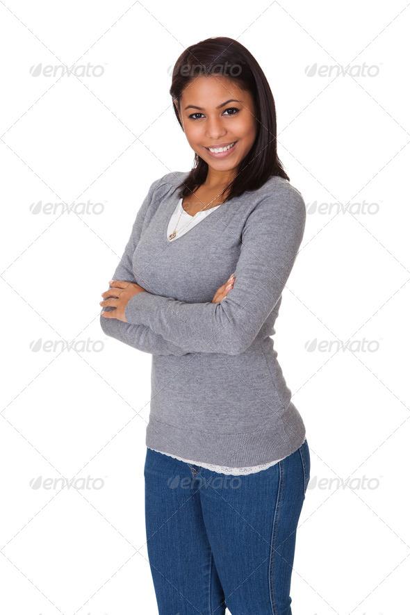 PhotoDune Portrait Of Happy Young Woman 3944658