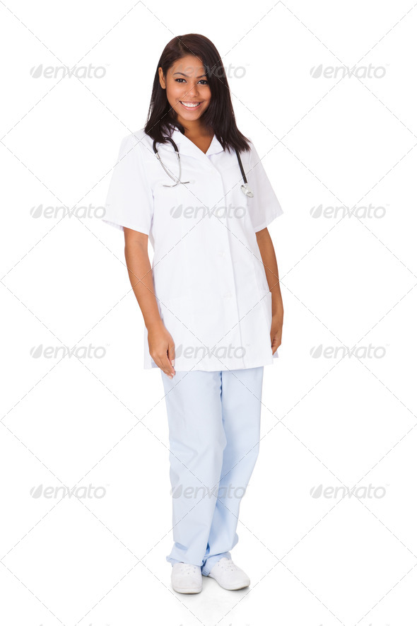 PhotoDune Happy Female Doctor 3944663