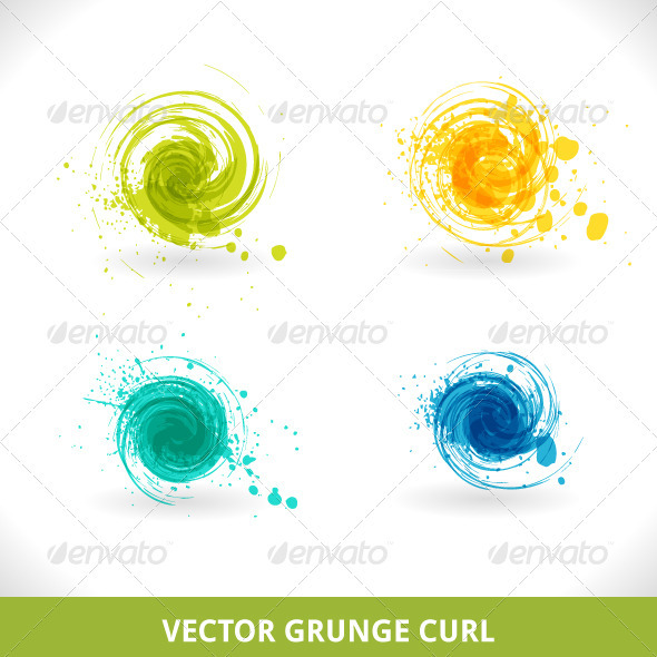 GraphicRiver Grunge Curl 3818612