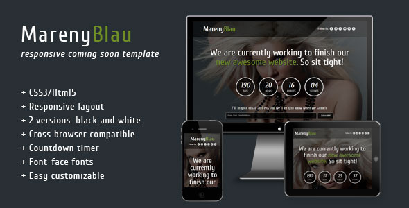 ThemeForest Mareny Blau Coming Soon Template 3930571