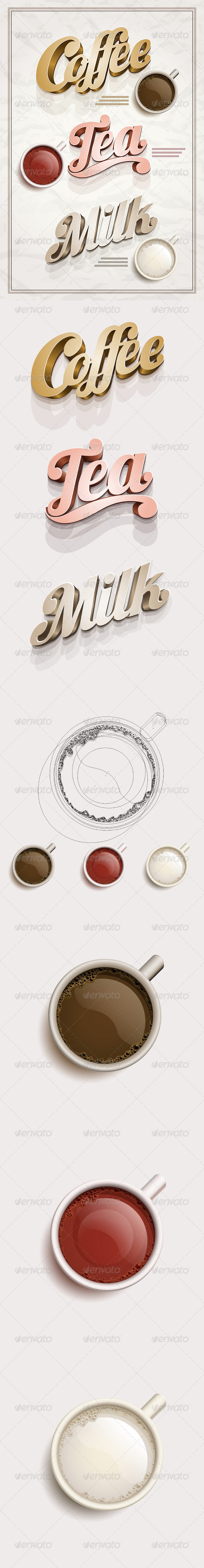 GraphicRiver Coffee Tea and Milk Design Template 3945248